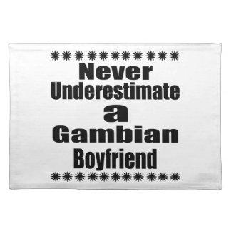 Never Underestimate A Gambian Boyfriend Placemat