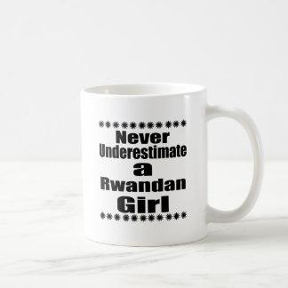Never Underestimate A Rwandan  Girlfriend Coffee Mug