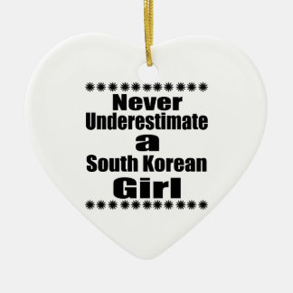 Never Underestimate A South Korean Girlfriend Ceramic Heart Decoration