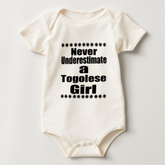 Never Underestimate A Togolese Girlfriend Baby Bodysuit