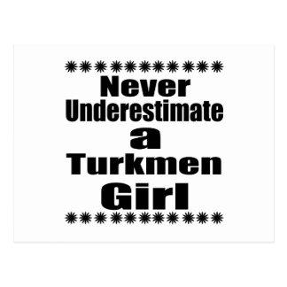 Never Underestimate A Turkmen  Girlfriend Postcard