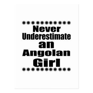 Never Underestimate An Angolan Girl Postcard