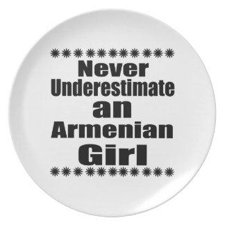 Never Underestimate An Armenian Girl Dinner Plates