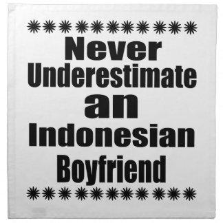 Never Underestimate An Indonesian Boyfriend Napkin