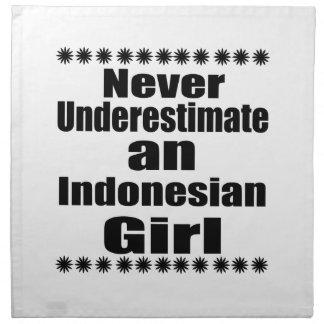 Never Underestimate An Indonesian Girl Napkin
