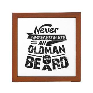 Never Underestimate an OLD MAN With a Beard Desk Organiser