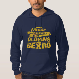 Never Underestimate an OLD MAN With a Beard Hoodie