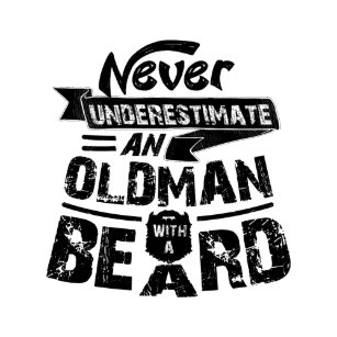 b065e406 Never Underestimate an OLD MAN With a Beard Magnet