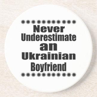 Never Underestimate An Ukrainian Boyfriend Drink Coaster