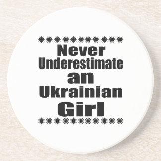 Never Underestimate An Ukrainian Girl Beverage Coasters