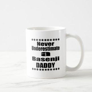 Never Underestimate Basenji  Daddy Coffee Mug