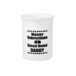 Never Underestimate Basset Hound Daddy Pitcher