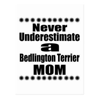 Never Underestimate Bedlington Terrier Mom Postcard
