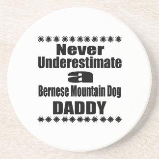 Never Underestimate Bernese Mountain Dog Daddy Coaster