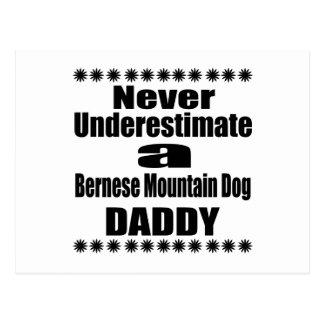 Never Underestimate Bernese Mountain Dog Daddy Postcard