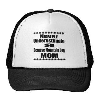 Never Underestimate Bernese Mountain Dog Mom Cap