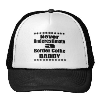 Never Underestimate Border Collie Daddy Cap