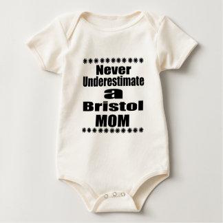 Never Underestimate Bristol  Mom Baby Bodysuit