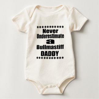 Never Underestimate Bullmastiff Daddy Baby Bodysuit