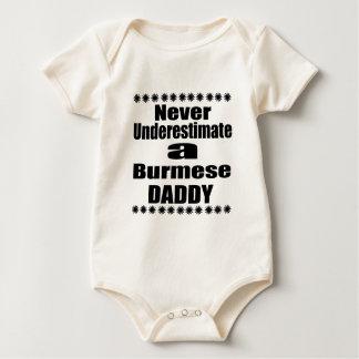 Never Underestimate Burmese Daddy Baby Bodysuit