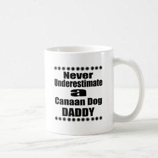 Never Underestimate Canaan Dog Daddy Coffee Mug