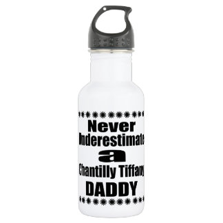 Never Underestimate Chantilly Tiffany Daddy 532 Ml Water Bottle