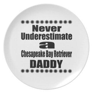 Never Underestimate Chesapeake Bay Retriever Daddy Plate