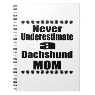 Never Underestimate Dachshund Mom Notebook