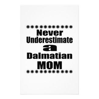 Never Underestimate Dalmatian Mom Stationery