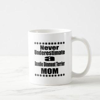 Never Underestimate Dandie Dinmont Terrier Mom Coffee Mug