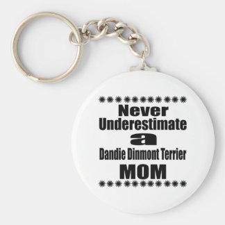 Never Underestimate Dandie Dinmont Terrier Mom Key Ring