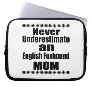 Never Underestimate English Foxhound Mom Laptop Sleeve