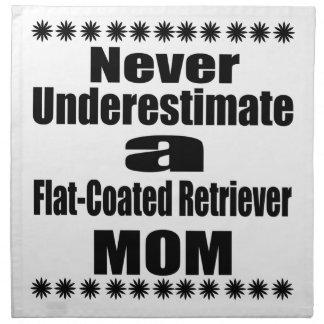 Never Underestimate Flat-Coated Retriever Mom Napkin
