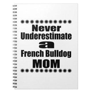 Never Underestimate French Bulldog  Mom Notebook