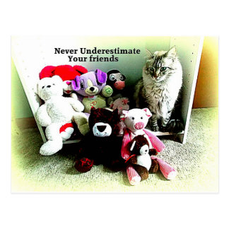 Never Underestimate Friends Postcard