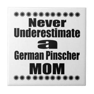 Never Underestimate German Pinscher Mom Ceramic Tile
