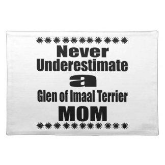 Never Underestimate Glen of Imaal Terrier  Mom Placemat