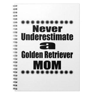 Never Underestimate Golden Retriever Mom Notebooks