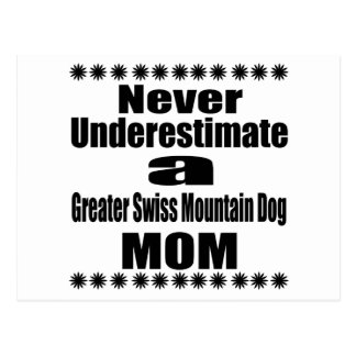 Never Underestimate Greater Swiss Mountain Dog Mom Postcard