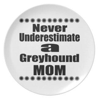Never Underestimate Greyhound Mom Plate