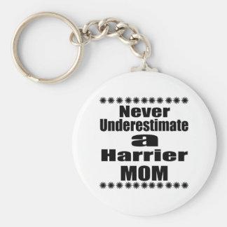 Never Underestimate Harrier Mom Key Ring