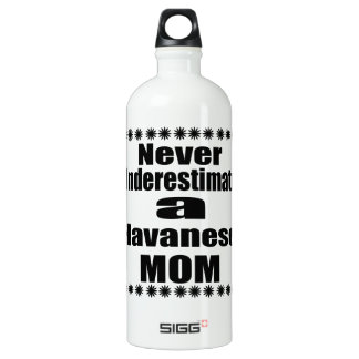 Never Underestimate Havanese Mom Water Bottle