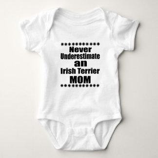 Never Underestimate Irish Terrier Mom Baby Bodysuit