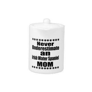 Never Underestimate Irish Water Spaniel Mom