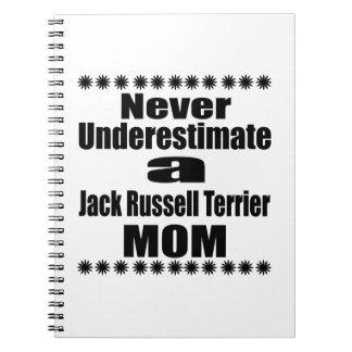 Never Underestimate Jack Russell Terrier  Mom Notebook