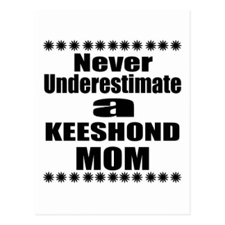 Never Underestimate KEESHOND Mom Postcard