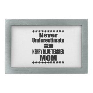 Never Underestimate KERRY BLUE TERRIER Mom Belt Buckles