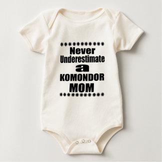 Never Underestimate KOMONDOR Mom Baby Bodysuit