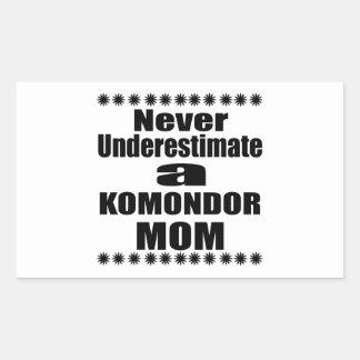 Never Underestimate KOMONDOR Mom Rectangular Sticker