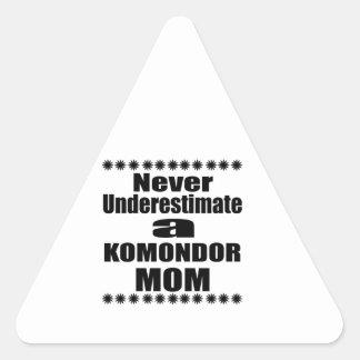 Never Underestimate KOMONDOR Mom Triangle Sticker